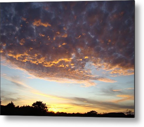 Sky Metal Print featuring the photograph Supernatural Sunset Two by Ana Villaronga