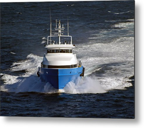 Supply Boat Metal Print featuring the photograph Supply Boat by Bill Perry