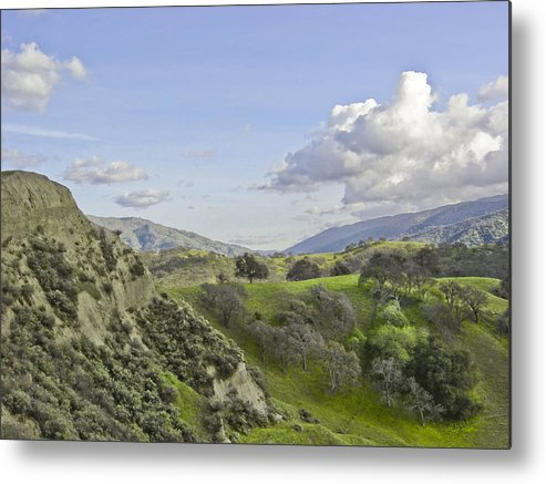 Landscape Metal Print featuring the photograph Swallow Bay Cliffs by Karen W Meyer