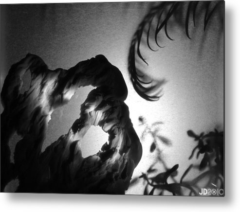 B&w Metal Print featuring the photograph Tendril Cave by Jonathan Donovan