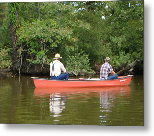 Fishing Metal Print featuring the photograph The Amish Way by PJ Cloud