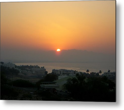 Sunset Metal Print featuring the photograph The Day Is Done by Sunaina Serna Ahluwalia