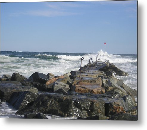 Beach Metal Print featuring the photograph The Jetty by Donna Davis