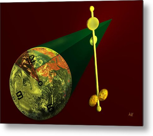 Earth Metal Print featuring the digital art The Metronome by Helmut Rottler