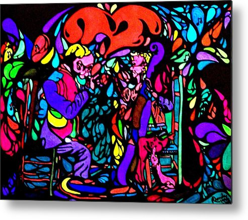 Musicians Metal Print featuring the painting The Musicians by YoMamaBird Rhonda