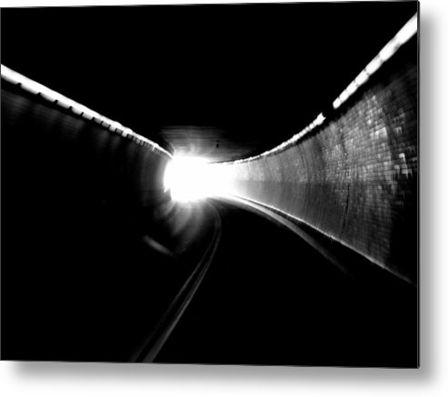 Tunnel Metal Print featuring the photograph There Is Light At The End Of The Tunnel by Lisa Jayne Konopka