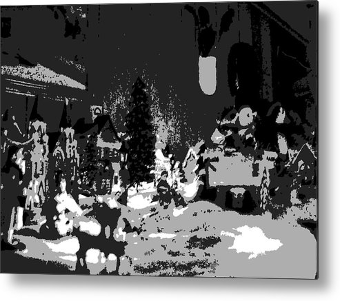 Black Metal Print featuring the photograph Tinsel Town by Michelle Hoffmann