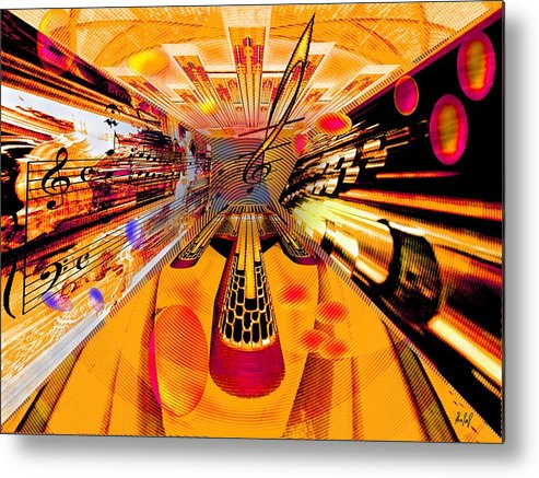 Toccata Metal Print featuring the digital art Toccata- Masters View by Helmut Rottler