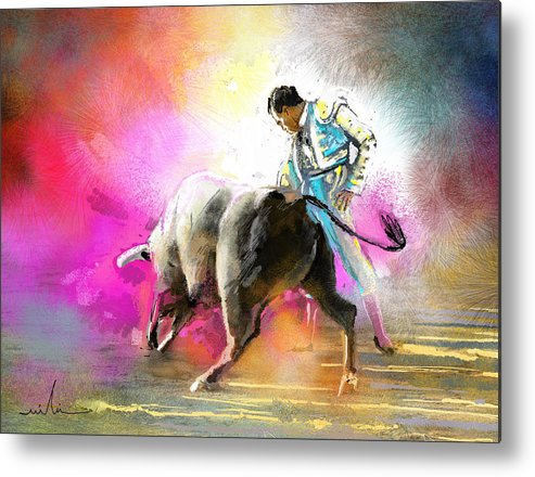 Animals Metal Print featuring the painting Toroscape 44 by Miki De Goodaboom