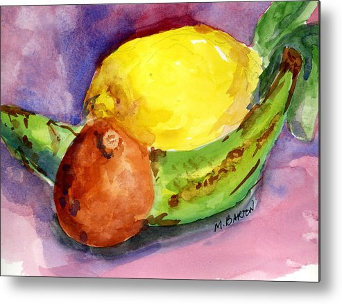 Fruit Metal Print featuring the painting Tropical by Marilyn Barton