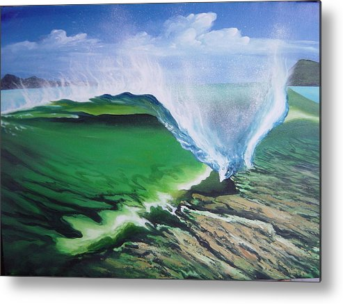 Surf Metal Print featuring the painting Tropical Twist by Ronnie Jackson