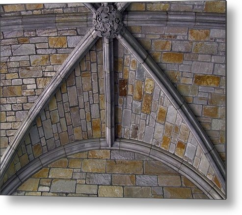 Facades Metal Print featuring the photograph Vaulted Stone Ceiling by Richard Gregurich