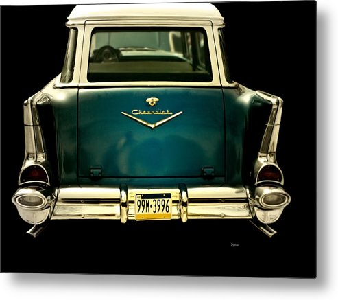 Cars Metal Print featuring the photograph Vintage 1957 Chevy Station Wagon by Steven Digman