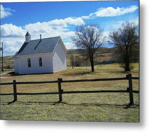 Abstract Metal Print featuring the photograph Virginia Dale Church by Lenore Senior
