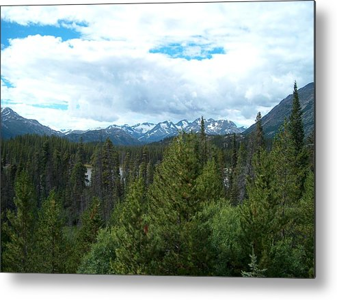 Alaska Metal Print featuring the photograph Vistas Along The Alcan by Janet Hall