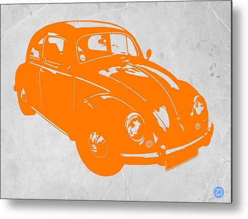 Metal Print featuring the photograph Vw Beetle Orange by Naxart Studio