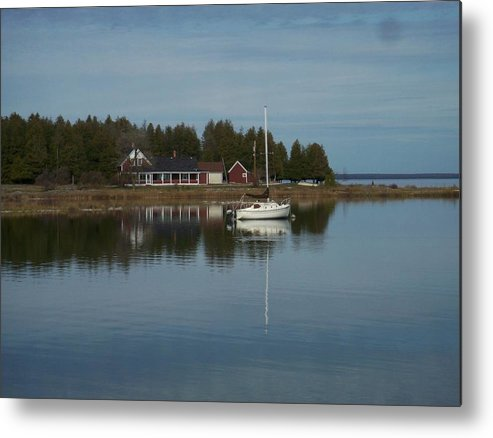 Washington Island Metal Print featuring the photograph Washington Island Harbor 3 by Anita Burgermeister