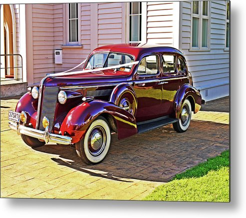 Elegance Metal Print featuring the photograph Wedding Limousine by Kenneth William Caleno