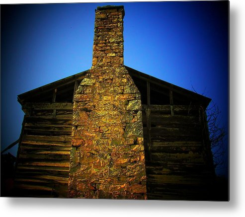 Chimney Metal Print featuring the photograph West Virginia Chimney by Michael L Kimble