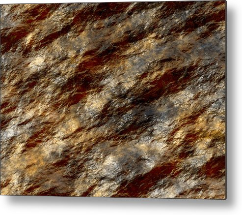 Wet Stone Metal Print featuring the digital art Wet Stone 2 by Michael Canning