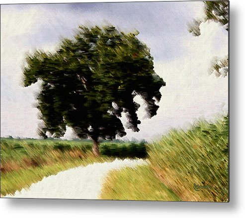 Breeze Metal Print featuring the digital art Wind Motif Old Dam Road by RC DeWinter