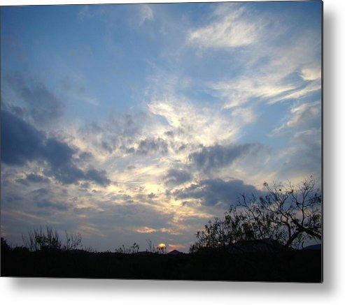 Winter Metal Print featuring the photograph Winter Sunset One by Ana Villaronga