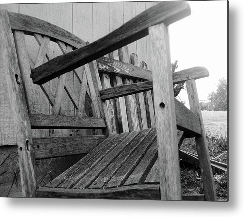 Chair Metal Print featuring the photograph Wooden Chair by Ali Dover