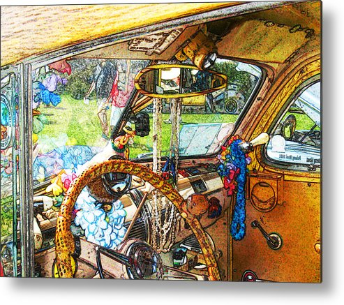 Woodie Wagon Metal Print featuring the photograph Woodie World by Deborah Hildinger