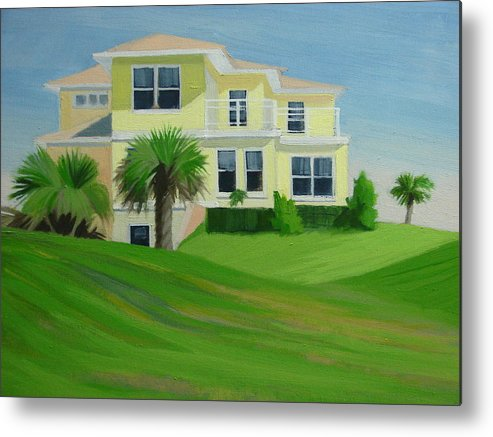 House Metal Print featuring the painting Yellow House by Robert Rohrich