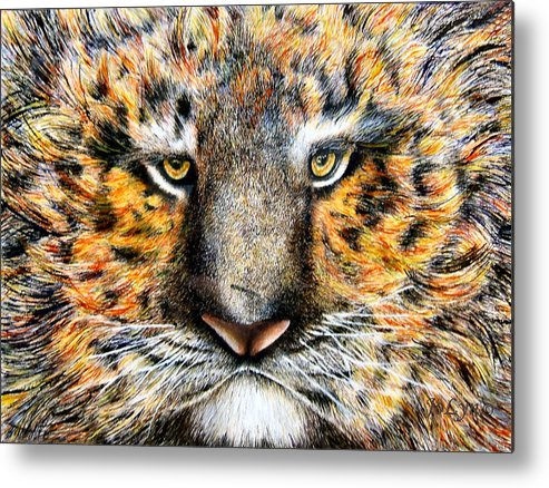 Tiger Metal Print featuring the painting Tig The Tiger With An Attitude by JoLyn Holladay
