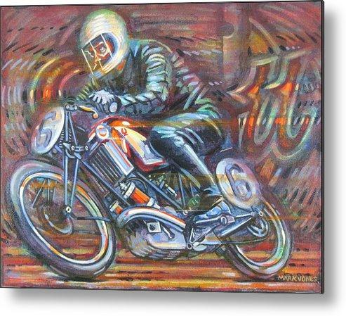 Motorcycle Metal Print featuring the painting Scott 2 by Mark Jones