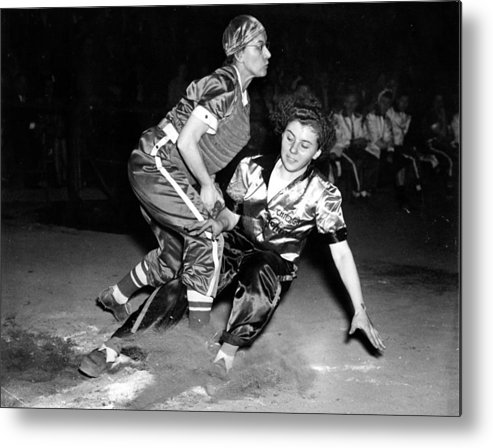 1940s Portraits Metal Print featuring the photograph Baseball, Mary Farmer Of The Chicago by Everett