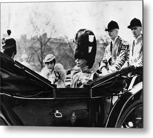 1930s Metal Print featuring the photograph British Royal Family. Center, From Left by Everett