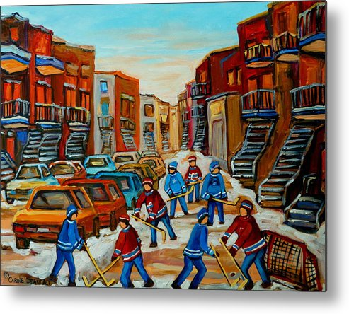 Heat Of The Game Metal Print featuring the painting Heat Of The Game by Carole Spandau