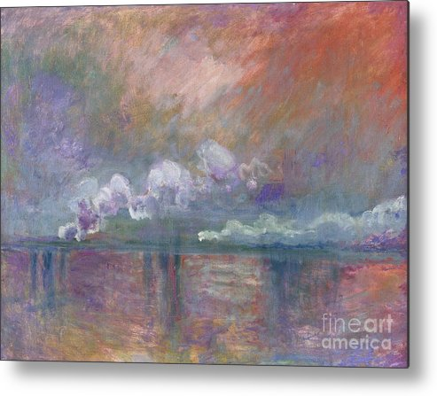 Charing Cross Bridge Metal Print featuring the painting Charing Cross Bridge by Claude Monet