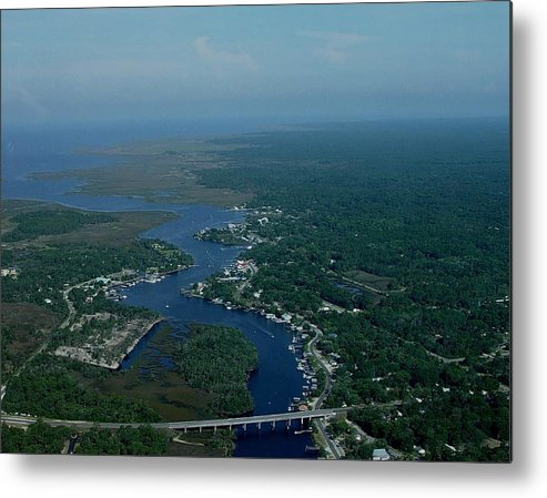 Aerial Metal Print featuring the photograph Aerial View 2 by Debbie May