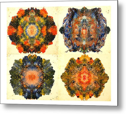 Abstract Metal Print featuring the painting Axiology by Howard Goldberg