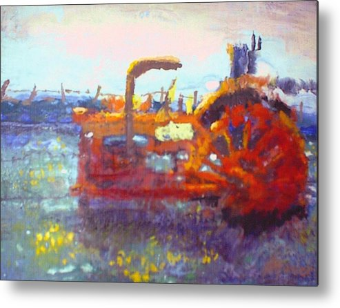 Reds Metal Print featuring the painting Basics Work by Helen Musser