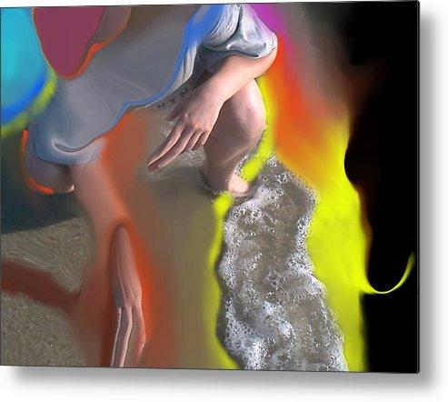 Beach Metal Print featuring the digital art Beach Testing by Peter Shor