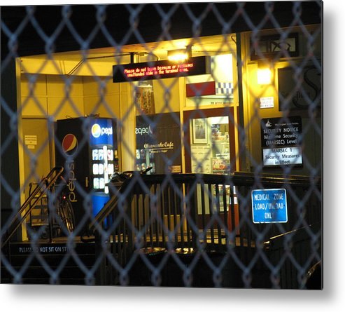 Not Not Sit Metal Print featuring the photograph Beware Of Signs by Tracey Levine