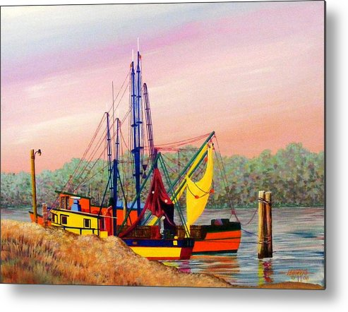 Landscape Metal Print featuring the painting Colorful Tribute by Hugh Harris