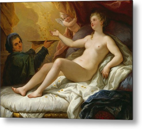 Danae Metal Print featuring the painting Danae by Paolo di Matteis