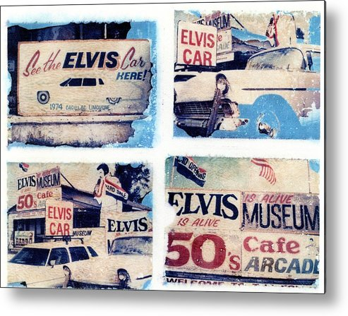 Elvis Metal Print featuring the photograph Disgraceland by Jane Linders