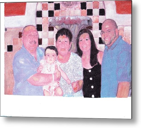 Family Metal Print featuring the painting Family by David Poyant