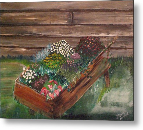 Garden Metal Print featuring the painting Garden Box by Jessica Mason