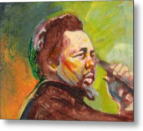 Charles Mingus Metal Print featuring the painting Mingus by Michael Facey