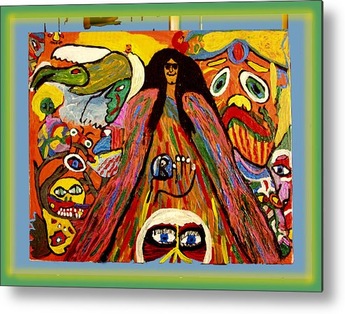 Metal Print featuring the painting Mr. Howard Stern by Betty Roberts