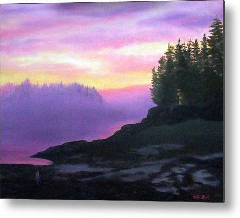 Sunset Metal Print featuring the painting Mystical Sunset by Sharon E Allen