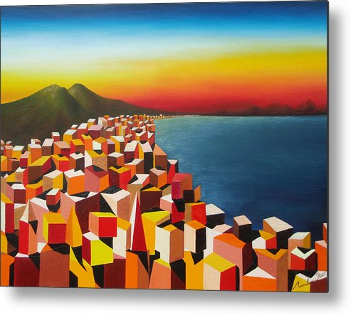 Colors Metal Print featuring the painting Napule' Mille Culure by Massimiliano Stanco