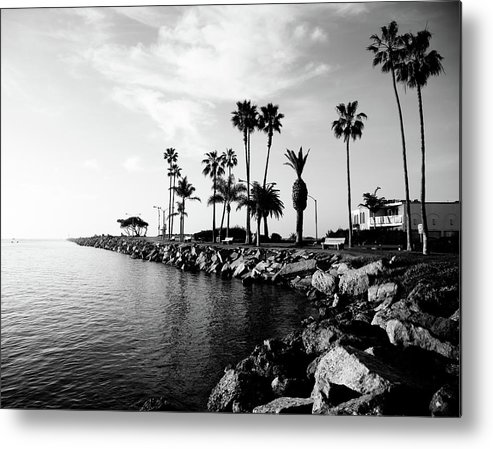 Balboa Peninsula Metal Print featuring the photograph Newport Beach Jetty by Paul Velgos